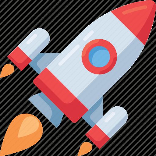 explorer, new, rocket, space, start, startup icon