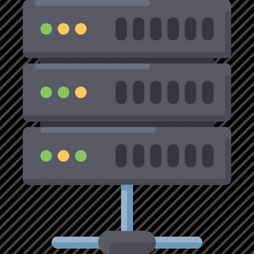 connection, data, internet, server icon