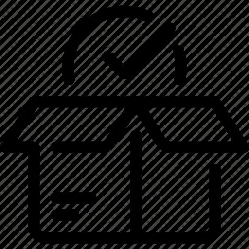 box, business, check, delivery icon