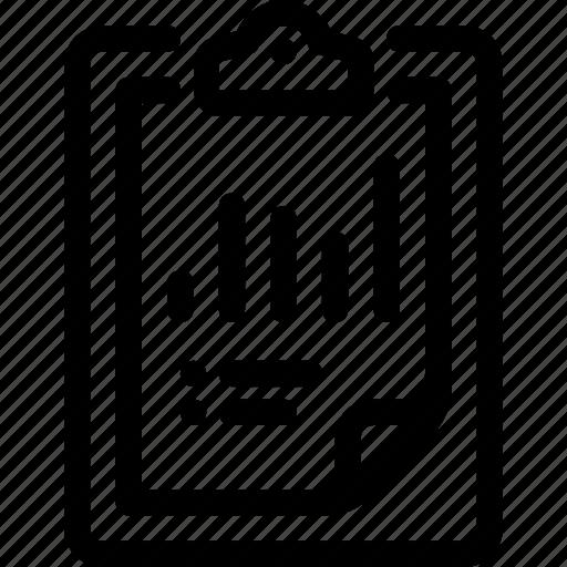 analytics, clipboard, data, document, report icon