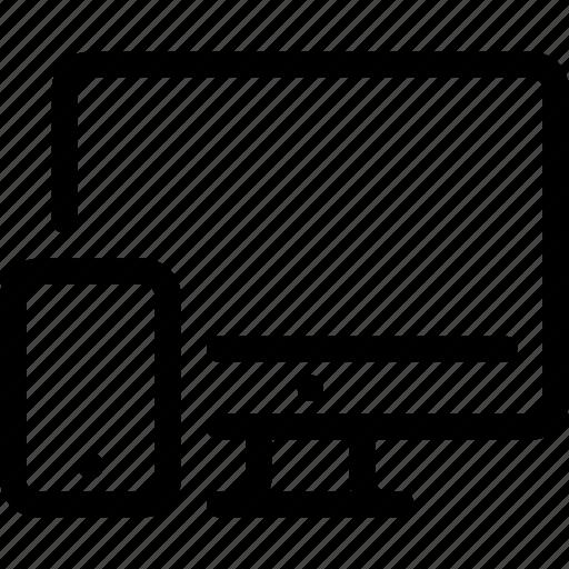 adaptive, computer, design, pc, phone, responsive icon