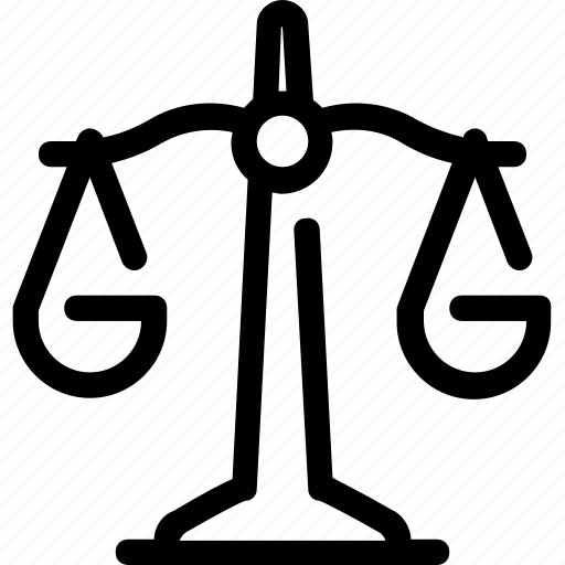 balance, justice, law, scales icon