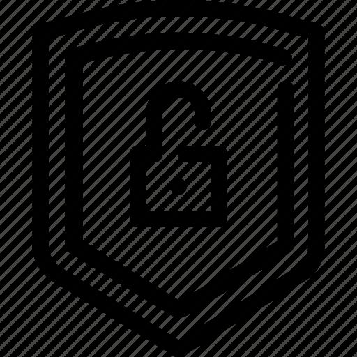 antivirus, lock, protection, security, shield icon