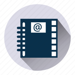 contact, diary, friends, index, notebook, register, repertory icon