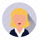 avatar, business, businesswoman, chairwoman, manager, suit, woman icon