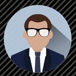 avatar, business, businessman, entrepreneur, manager, profile, suit icon