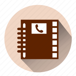 contact, contacts, diary, friends, notebook, phone, phone book icon