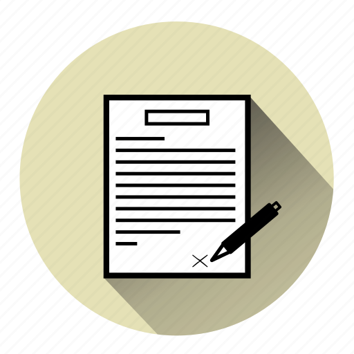 Agreement Contract Deal Document Lease Sign Signed Contract Icon