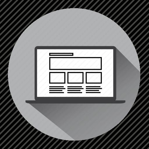 computer, desktop, internet, laptop, seo, web page, website icon