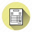 bill, check, ecommerce, invoice, order, payment, statement icon