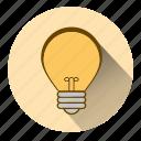 electricity, idea, innovate, innovation, lamp, light, lightbulb icon