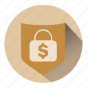 ecommerce, lock, money, save money, secure, security, shopping icon