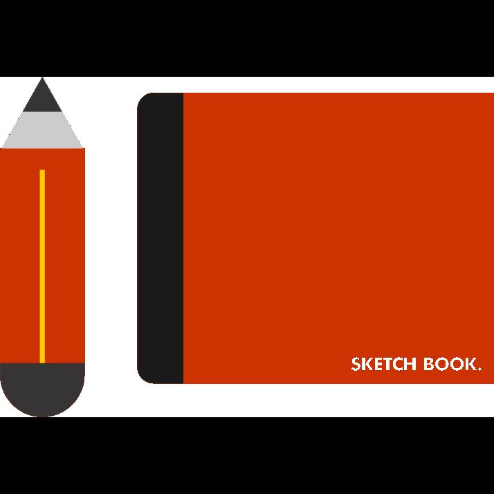 book, sketch icon
