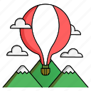 achievement, cloud, mountain, start, target, up, upgrade icon