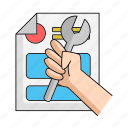 business, data, fix, information, repair, start, up icon