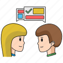 agreement, business, communication, deal, start, talk, up icon