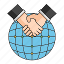 agreement, closed deal, deal, peace, start, up, world icon