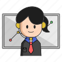 business, chart, customer, customer service, start, support, up icon