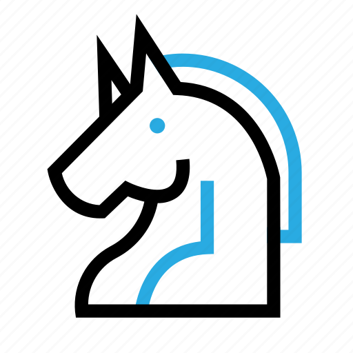 business, corporate, horse, office, startup, unicorn, work icon