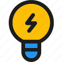 bulb, creative, electricity, idea, lamp, light, power icon