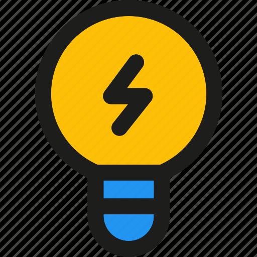 bulb, creative, electricity, idea, lamp, light, power icon