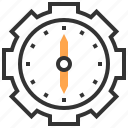 clock, innovation, investment, management, opportunity, startup, strategy icon