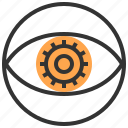 eye, innovation, investment, management, opportunity, startup, strategy icon