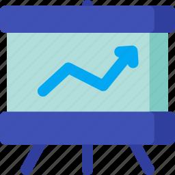 analytics, blackboard, board, graph, presentation, report, study icon