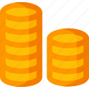 cash, coin, coins, currency, dollar, finance, payment icon