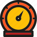dashboard, measure, measurement, meter, speed, speedometer icon