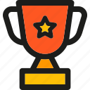 achievement, badge, prize, star, trophy, winner icon