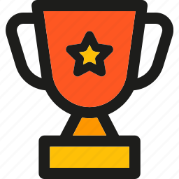 achievement, badge, prize, star, trophy, winner icon