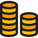 cash, coin, coins, currency, finance, money, payment icon