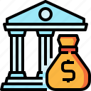 bag, bank, budget, debt, financial, loan, money icon