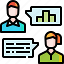 bublle, business, caht, communication, network, talk, team icon