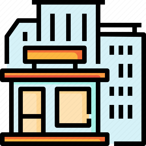 building, business, growth, office icon