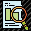 data, file, graph, pie, research, search, statistics