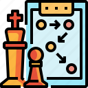 business, chess, plan, planing, strategy icon