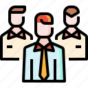 employee, group, networking, partner, people, team, user icon