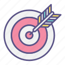 aiming, arrow, hunting, strategy, target, targeting icon