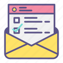 email, envelope, information, letter, mail, newsletter icon