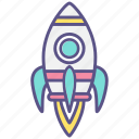 rocket, ship, spaceship, startup