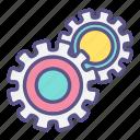 cogwheel, cooperation, gear, industrial, machine icon