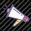 advertisement, announce, marketing, megaphone, public relations, publicize icon