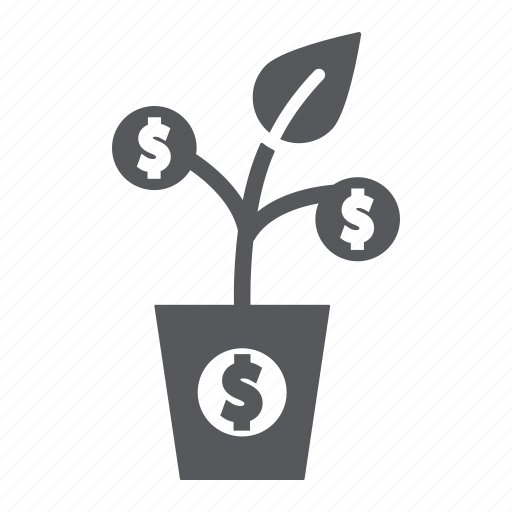 currency, dollar, finance, growth, money, tree icon