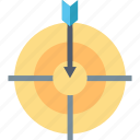 accuracy, aim, business, focus, goal, precision, target icon
