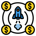 business, currency, investment, startup, team icon