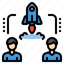 business, currency, investment, startup, teamwork icon