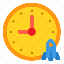 business, currency, investment, startup, time icon