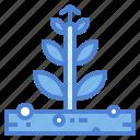 business, commerce, growth, plants, profits icon